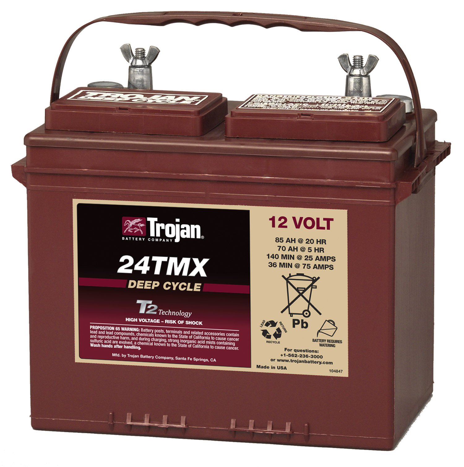 24tmx trojan 12 volt golf cart battery. Black Bedroom Furniture Sets. Home Design Ideas