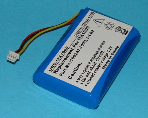 Battery For Logitech Mx1000 Tv Remote