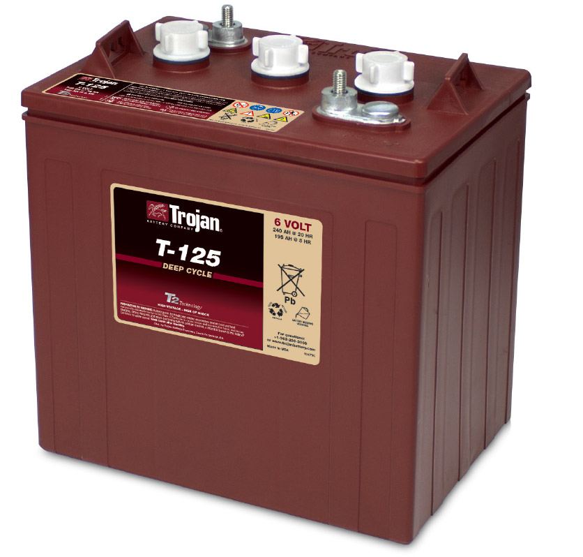 t 125 trojan 6 volt deep cycle battery. Black Bedroom Furniture Sets. Home Design Ideas