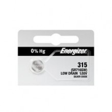 Energizer 315 Zero Mercury Silver Oxide Button Cell - 20: 5pc tear strips = 100 button cell batteries