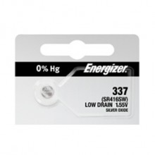 Energizer 337 Zero Mercury Silver Oxide Button Cell - 20: 5pc tear strips = 100 button cell batteries