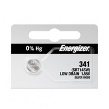 Energizer 341 Zero Mercury Silver Oxide Button Cell - 20: 5pc tear strips = 100 button cell batteries