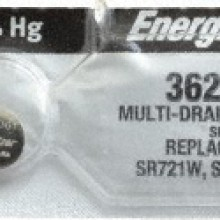 Energizer 362/303 Zero Mercury Silver Oxide Button Cell - 20: 5pc tear strips = 100 button cell batteries