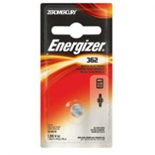 Energizer 362 Zero Mercury Silver Oxide Button Cell - 6: 1pks = 6 cells