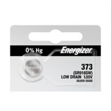 Energizer 373 Zero Mercury Silver Oxide Button Cell - 20: 5pc tear strips = 100 button cell batteries