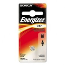 Energizer 377 Zero Mercury Silver Oxide Button Cell - 6: 1pks = 6 cells