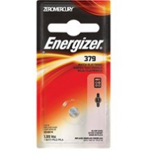 Energizer 379 Zero Mercury Silver Oxide Button Cell - 6: 1pks = 6 cells