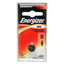 Energizer 389 Zero Mercury Silver Oxide Button Cell - 6: 1pks = 6 cells