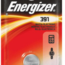 Energizer 391 Zero Mercury Silver Oxide Button Cell - 6: 1pks = 6 cells