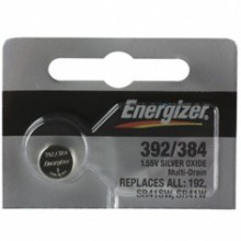 Energizer 392/384 Zero Mercury Silver Oxide Button Cell - 20: 5pc tear strips = 100 button cell batteries