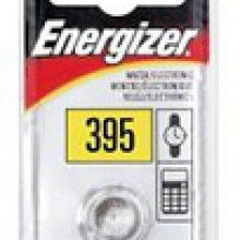 Energizer 395/399 Zero Mercury Silver Oxide Button Cell - 20: 5pc tear strips = 100 button cell batteries