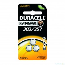 Duracell 303/357 Silver Oxide Button Cell - 6: 3pks = 18 batteries