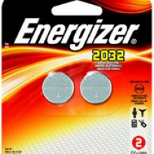 Energizer 2032 Lithium Coin Cell - 20: 5pc tear strips = 100 coin cell batteries
