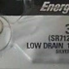 Energizer 346 Zero Mercury Silver Oxide Button Cell - 20: 5pc tear strips = 100 button cell batteries