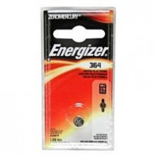 Energizer 364 Zero Mercury Silver Oxide Button Cell - 6: 1pks = 6 cells