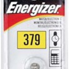 Energizer 379 Zero Mercury Silver Oxide Button Cell - 20: 5pc tear strips = 100 button cell batteries