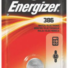 Energizer 386 Zero Mercury Silver Oxide Button Cell - 6: 1pks = 6 cells