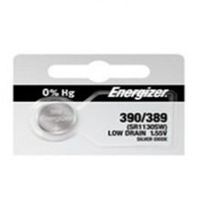 Energizer 390/389 Zero Mercury Silver Oxide Button Cell - 20: 5pc tear strips = 100 button cell batteries