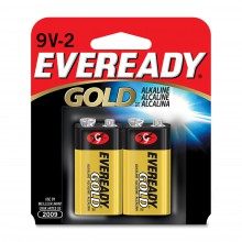 Eveready 9V Gold Alkaline Battery - 24: 9V 1pks = 24 batteries