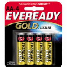 Eveready AA Gold Alkaline Battery - 24: AA 4pks = 96 batteries