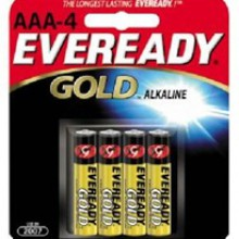 Eveready AAA Gold Alkaline Battery - 24: AAA 4pks = 96 batteries