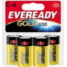 Eveready C Gold Alkaline Battery - 12: C 4pks = 48 batteries