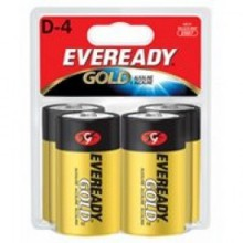 Eveready D Gold Alkaline Battery - 12: D 4pks = 48 batteries