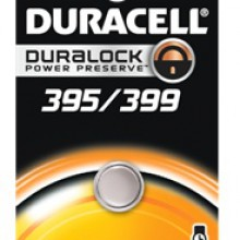 Duracell 395/399 Silver Oxide Button Cell - 6: 1pks = 6 batteries