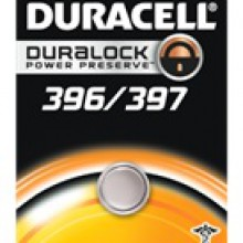 Duracell 396/397 Silver Oxide Button Cell - 6: 1pks = 6 batteries