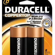 CopperTop D Alkaline Battery - 48: D 2pk = 96 batteries