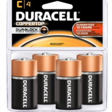 CopperTop C Alkaline Battery - 18: C 4pks = 72 batteries