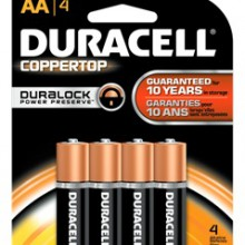 CopperTop AA Alkaline Battery - 56: AA 4pks = 224 batteries