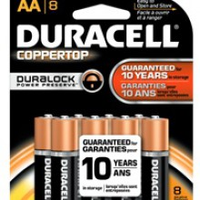 CopperTop AA Alkaline Battery - 48: AA 8pks = 384 batteries