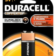 CopperTop 9V Alkaline Battery - 48: 9V 1pks = 48 batteries