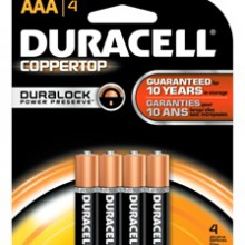 CopperTop AAA Alkaline Battery - 54: AAA 4pks = 216 batteries