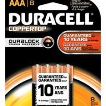 CopperTop AAA Alkaline Battery - 40: AAA 8pks = 320 batteries